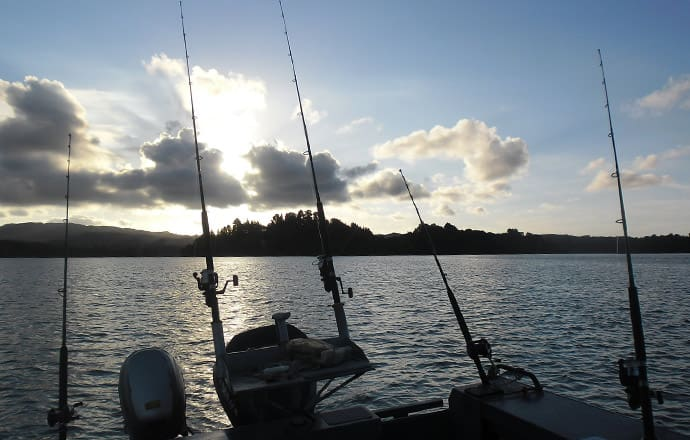 Watching the sunset with Ezyfishing Charters